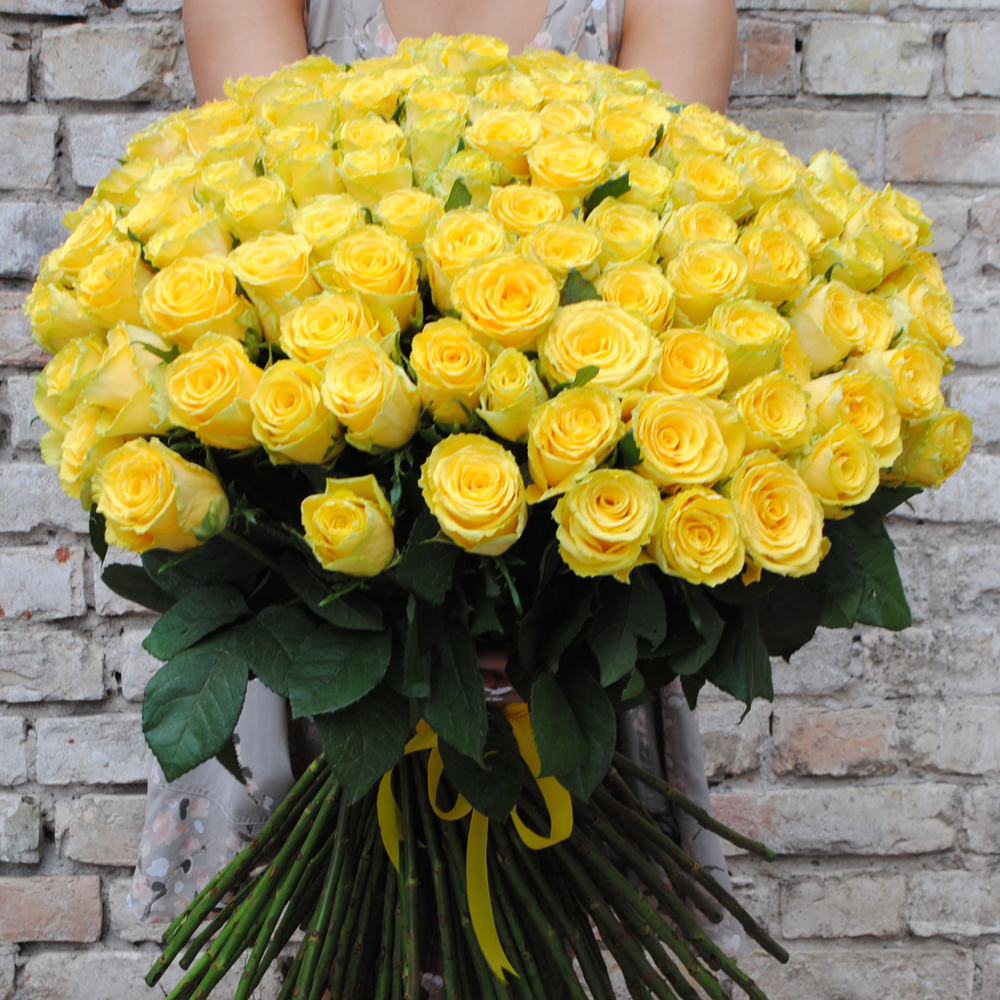 хотите огромный букет желтых роз фото последнюю роль здесь
